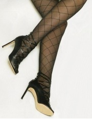 Levante Bella Diamond Pattern Plus Size Tights