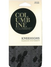 Columbine Flower & Spot Patterned Knee Highs