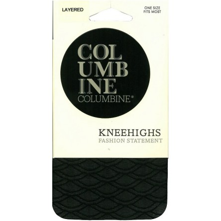 Columbine Layered Patterned Knee Highs