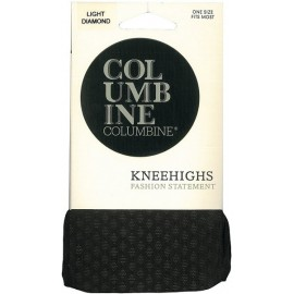 Columbine Light Diamond Patterned Knee Highs
