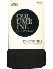 Columbine Light Diamond Patterned Knee Highs
