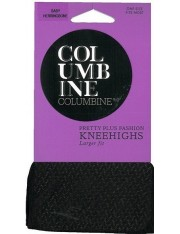 Columbine Baby Herringbone Pretty Plus Knee Highs