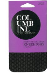 Columbine Light Diamond Pretty Plus Knee Highs