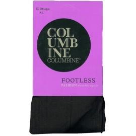 Columbine Pretty Plus Footless Tights - 50 Denier
