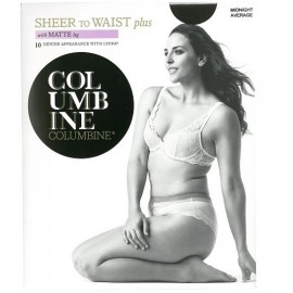 Columbine Plus Sheer to Waist Tights with Matte Leg