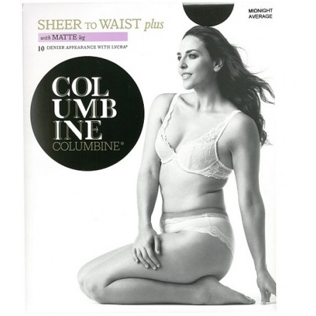 Columbine Plus Size Sheer to Waist Tights with Matte Leg