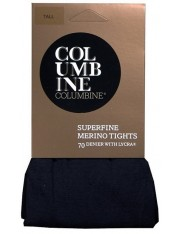 Columbine Superfine Merino Wool Tights with Lycra