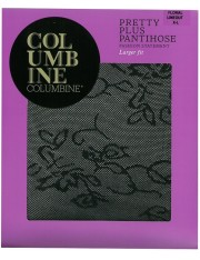 Columbine Pretty Plus Floral Lineout Pantihose