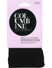 Columbine Pretty Plus Sheer Knee Highs