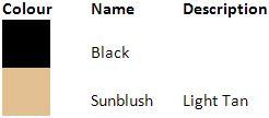 Pretty Polly Black and Sunblush Colour Guide